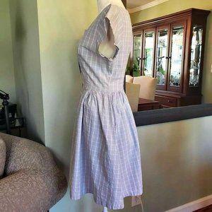 Vintage Seersucker Day Dress
